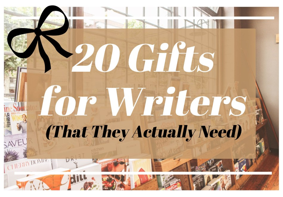 This is the featured photo for the blog post 20 gifts for writers that they actually need from Independent Book Review.