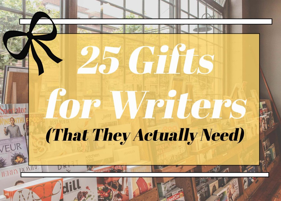 Featured photo for 25 gifts for writers that they actually need. Photo by Jaylynn Korrell and Independent Book Review.