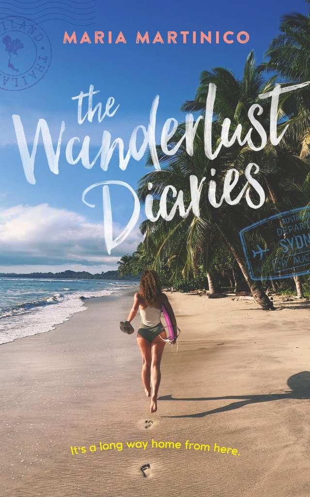 This is the book cover for the wanderlust diaries by maria martinico as reviewed by Independent Book Review
