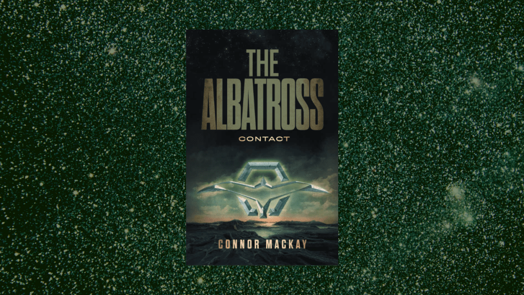 This is the featured photo for The Albatross Contact by Connor Mackay, as reviewed by IBR