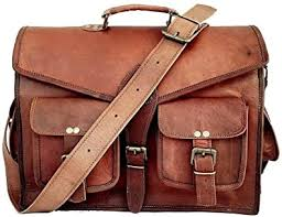 Amazon.com | Skyland 20 Inch Leather Messenger Bag Shoulder Men Laptop  Briefcase Vintage Satchel (Brown) | Messenger Bags