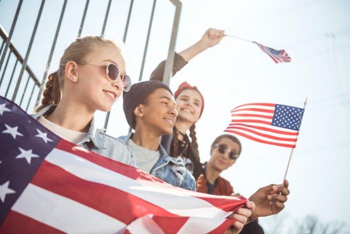 Patriotic High Schoolers