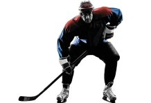 Patriotic Hockey Player