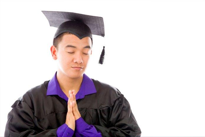 Praying Student