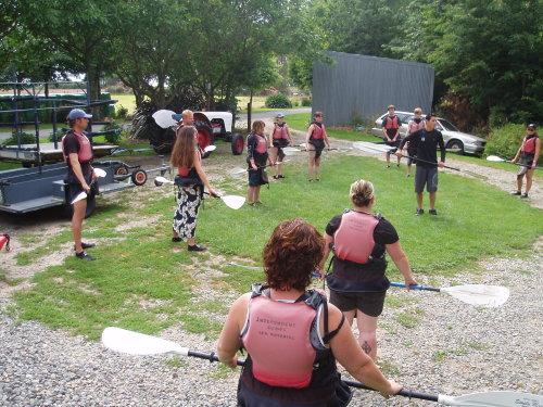 Kayak paddle indtruction