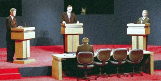 three podiums