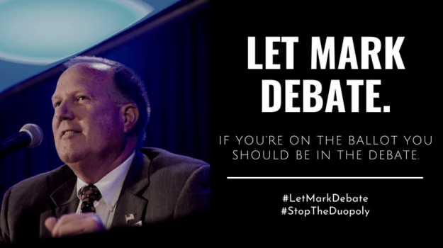 Let Mark Debate -- Mark Tippetts, Libertarian Party candidate for governor of Texas