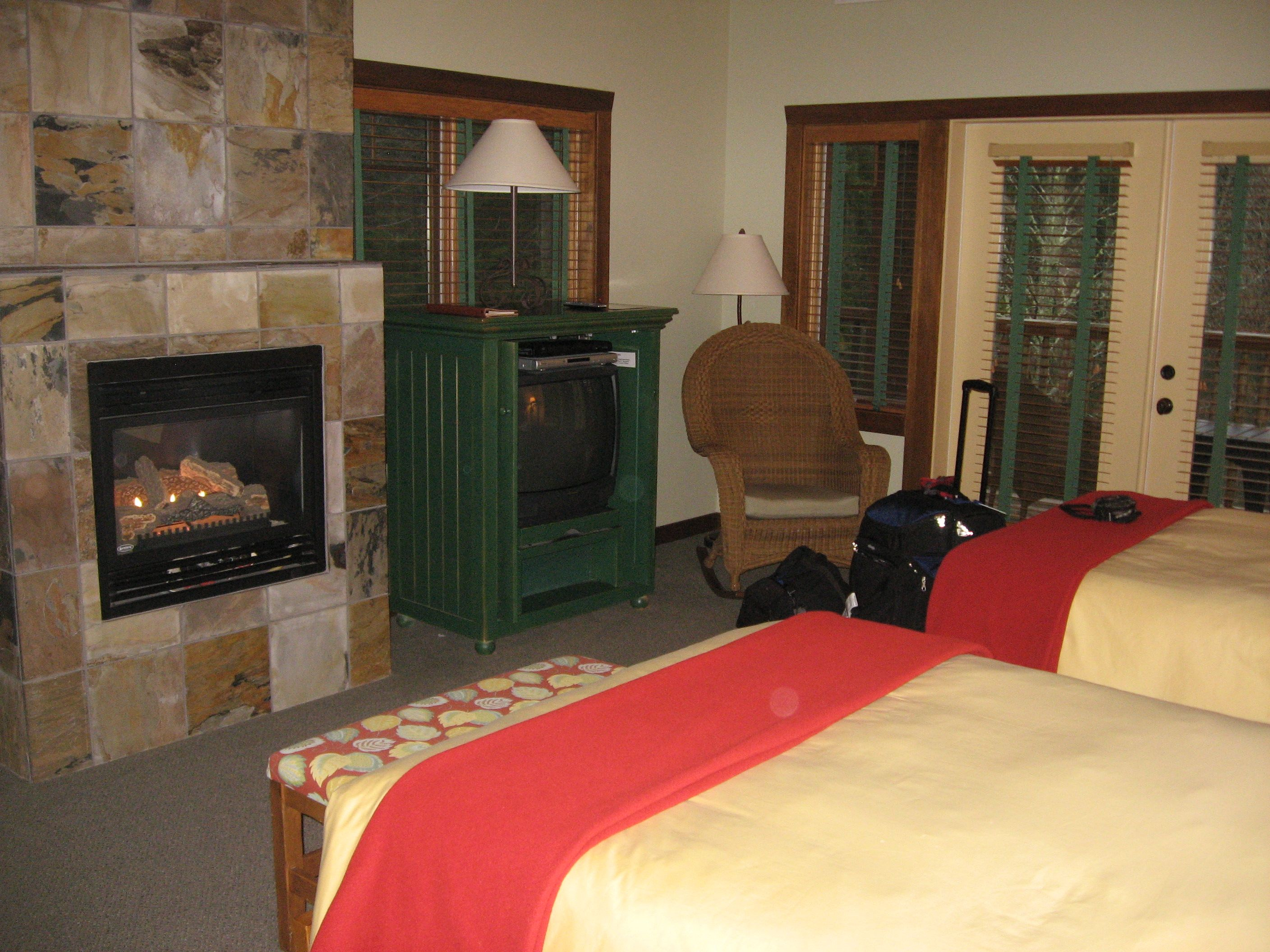 One of the two-bed rooms in the Lakedale lodge