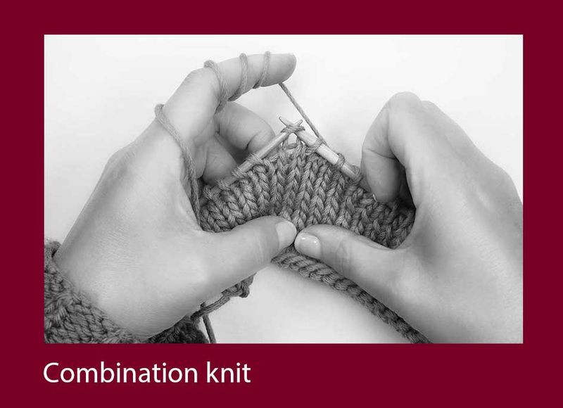 Combination-knit