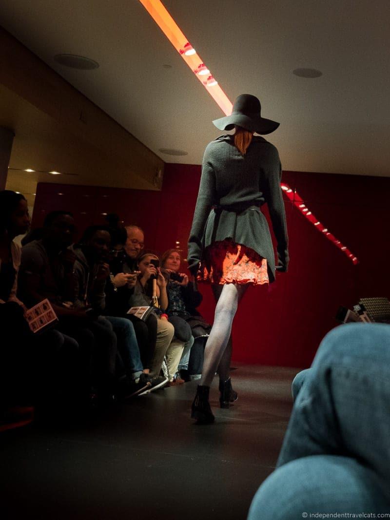 Galeries lafayette Free Fashion Show Paris model runway