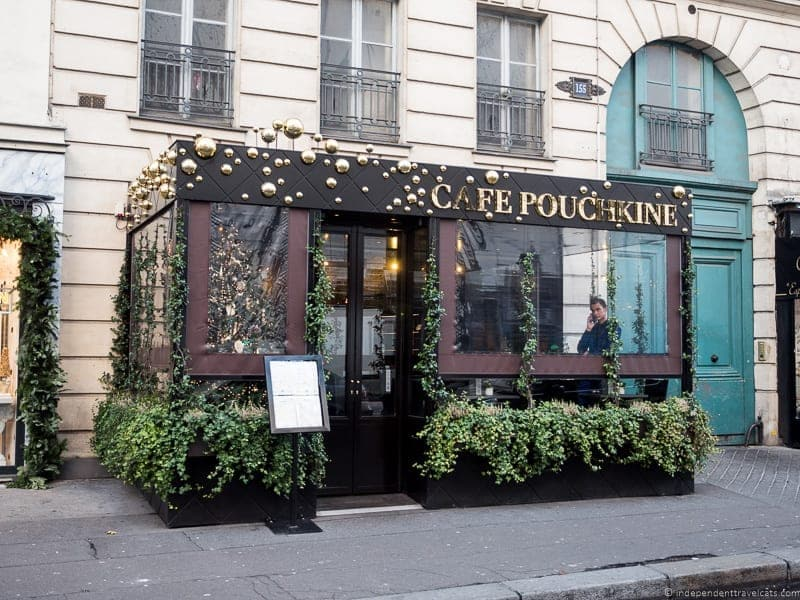 Cafe Pouchkine afternoon tea in Paris