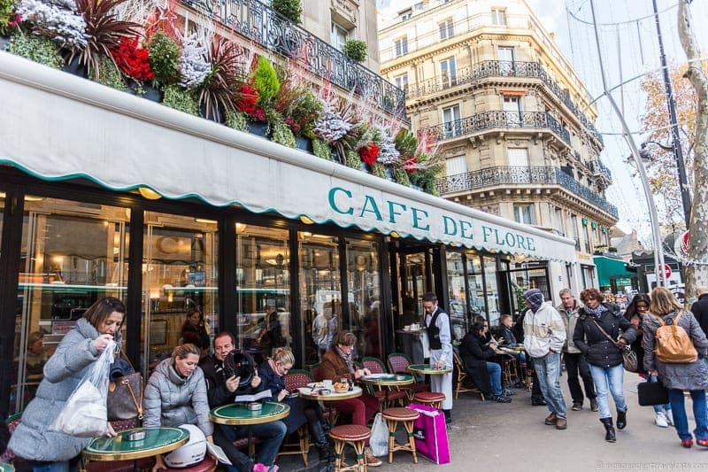 Cafe de Flore afternoon tea in Paris