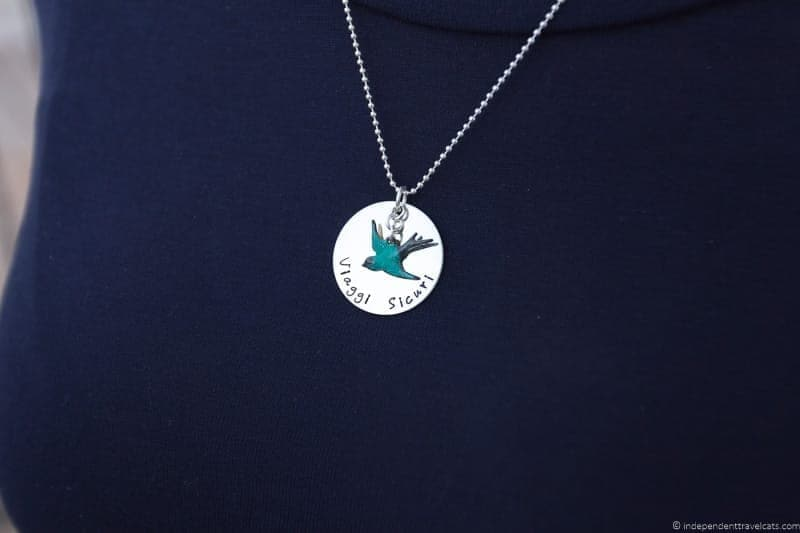blue swallow necklace travel jewelry traveling inspried jewellery