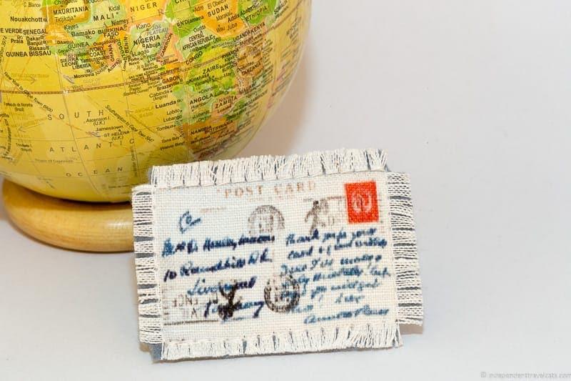 vintage postcard travel jewelry traveling inspried jewellery