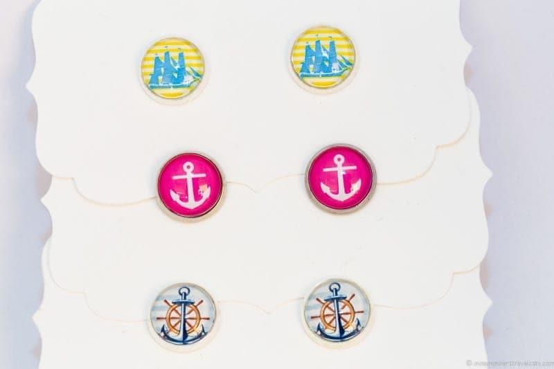 nautical earrings handmade travel jewelry traveling inspried jewellery