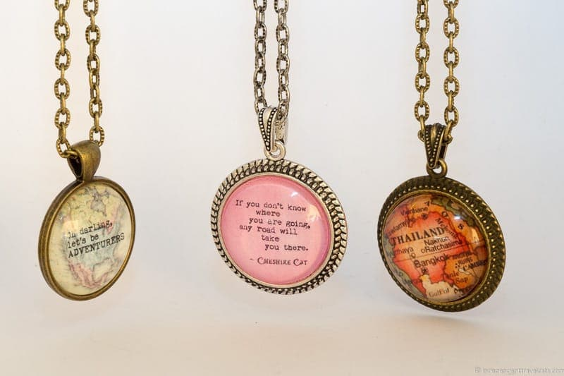 travel pendant necklace travel jewelry traveling inspried jewellery