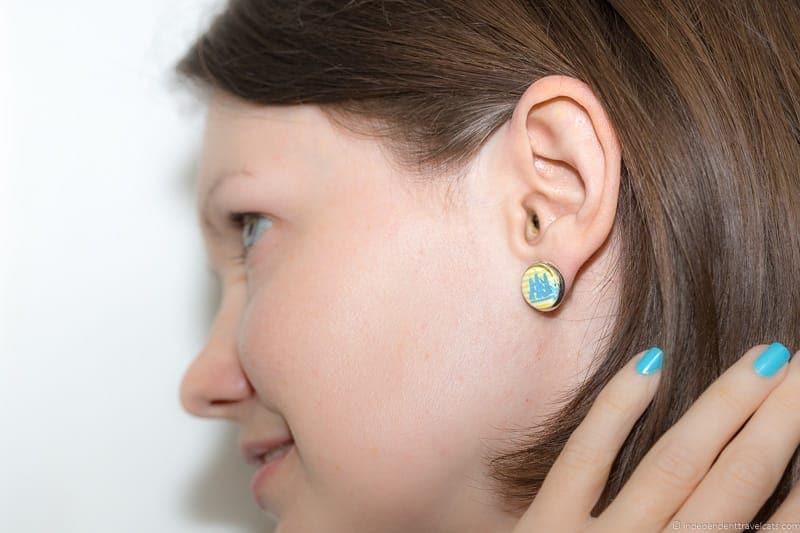ship earrings handmade travel jewelry traveling inspried jewellery