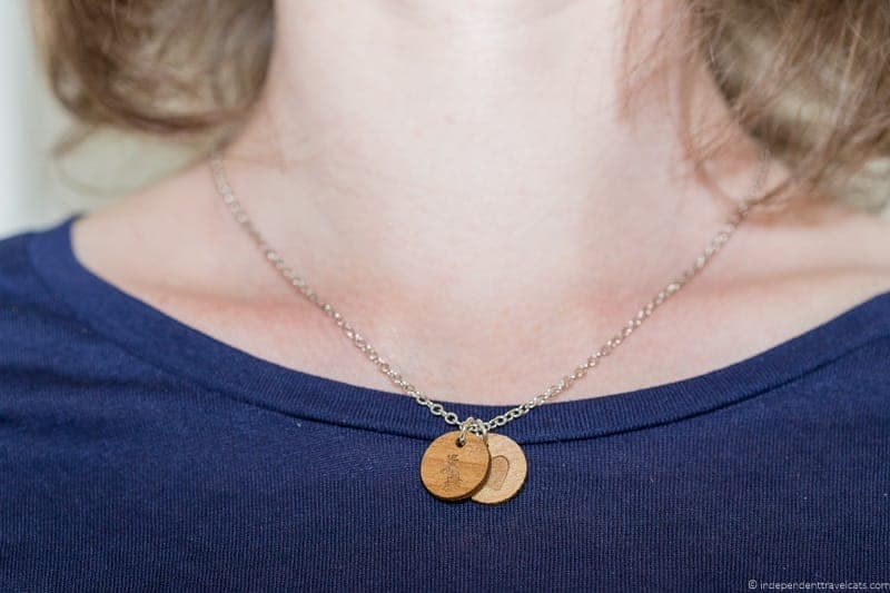 UK necklace travel jewelry traveling inspried jewellery