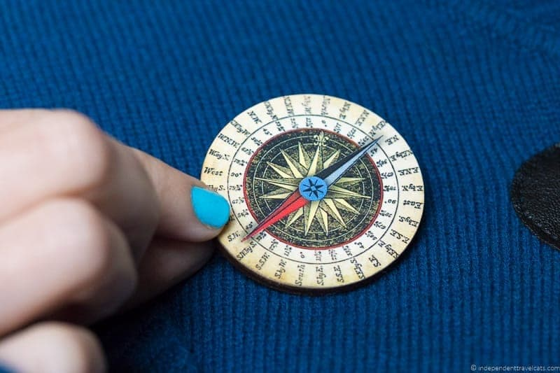 compass brooch travel jewelry traveling inspried jewellery