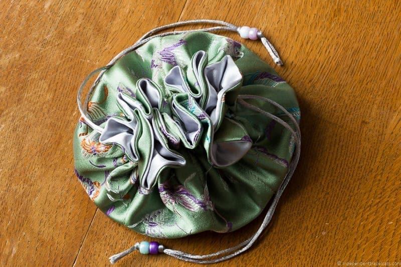 handmade travel jewelry pouch traveling inspried jewellery