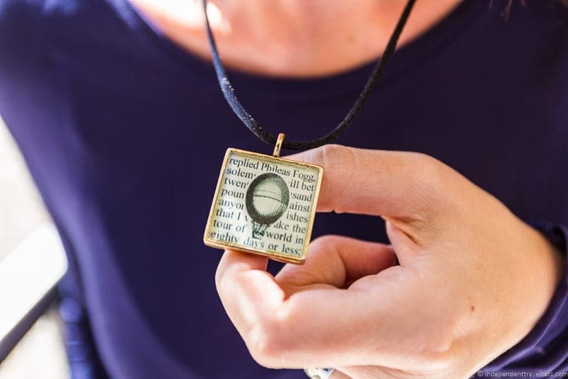 Jules Verne necklae travel jewelry traveling inspried jewellery
