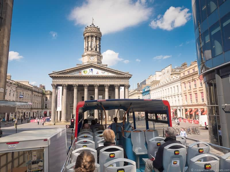 hop on hop off bus top things to do in Glasgow Scotland attractions