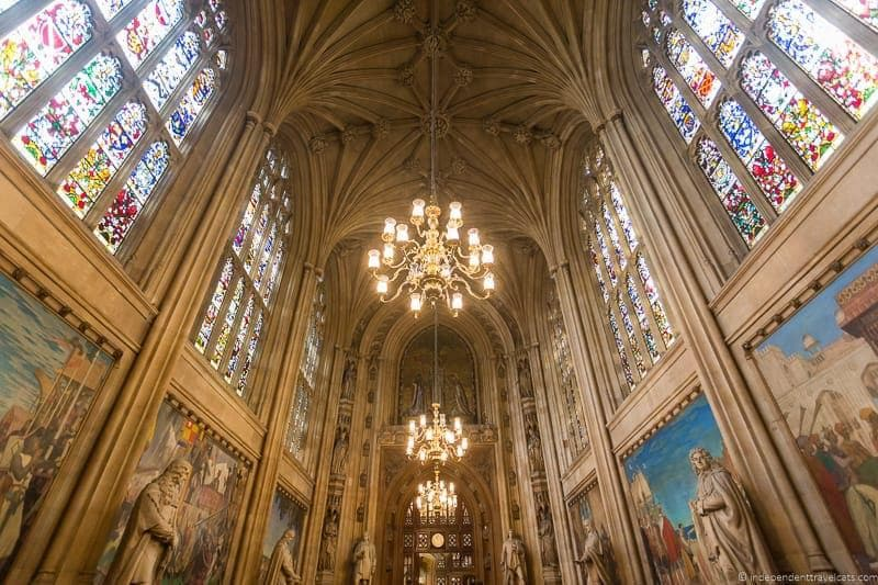 St. Stephen's Hall, Houses of Parliament tour - top Winston Churchill sites in England