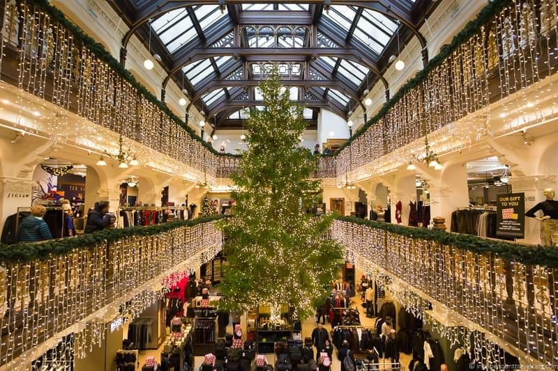 Jenners tree Christmas in Edinburgh Scotland December