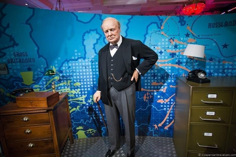 Churchill wax figure Winston Churchill in London sites attractions England UK