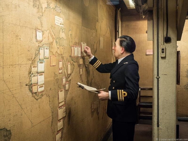 Churchill War Rooms Winston Churchill in London sites attractions England UK