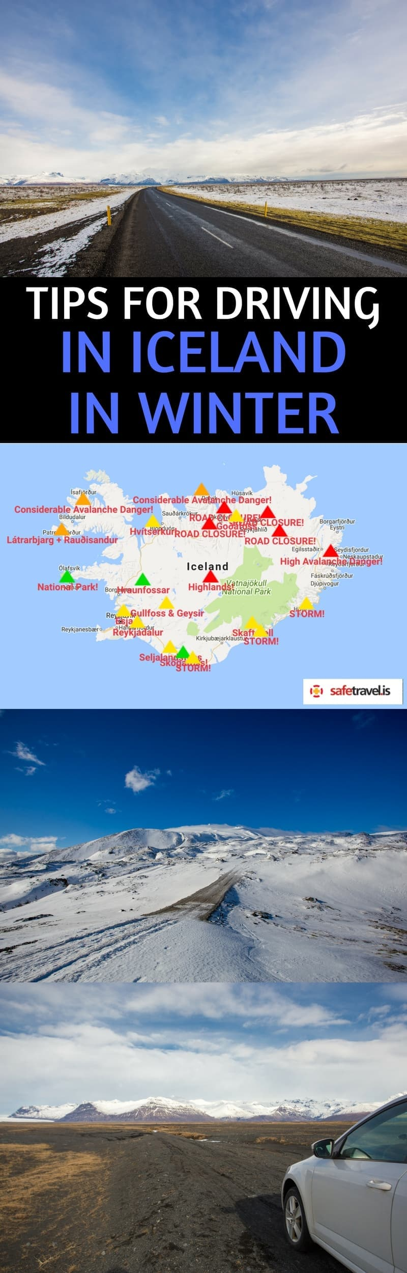 A practical & helpful guide to driving in Iceland in winter. We cover everything you need to know to be prepared for driving in Iceland during the winter.We'll tell you what road conditions are like in Iceland in winter, what kind of car to rent, the best areas of Iceland to visit (and avoid) in the winter, how to prepare for a winter Iceland road trip, and how to stay safe. #Icelandtravel #wintertravel #Icelandroadtrip #driving #Icelandinwinter #drivinginwinter