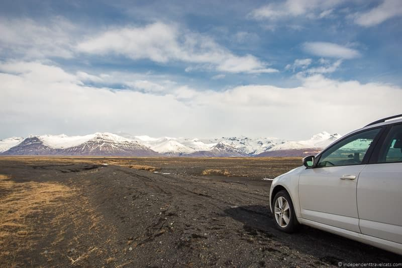 driving in Iceland in winter advice during winter months