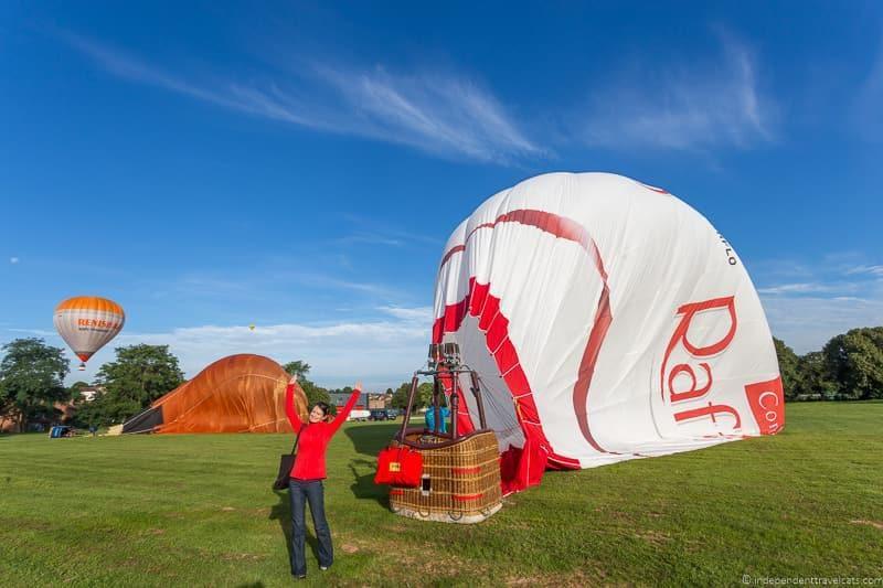 balloon ride Bristol Balloon Fiesta England UK