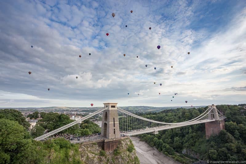Clifton Suspension Bridge Bristol Balloon Fiesta England UK