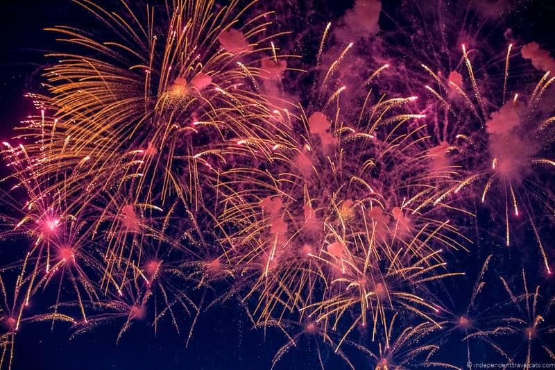 fireworks Bristol Balloon Fiesta England UK