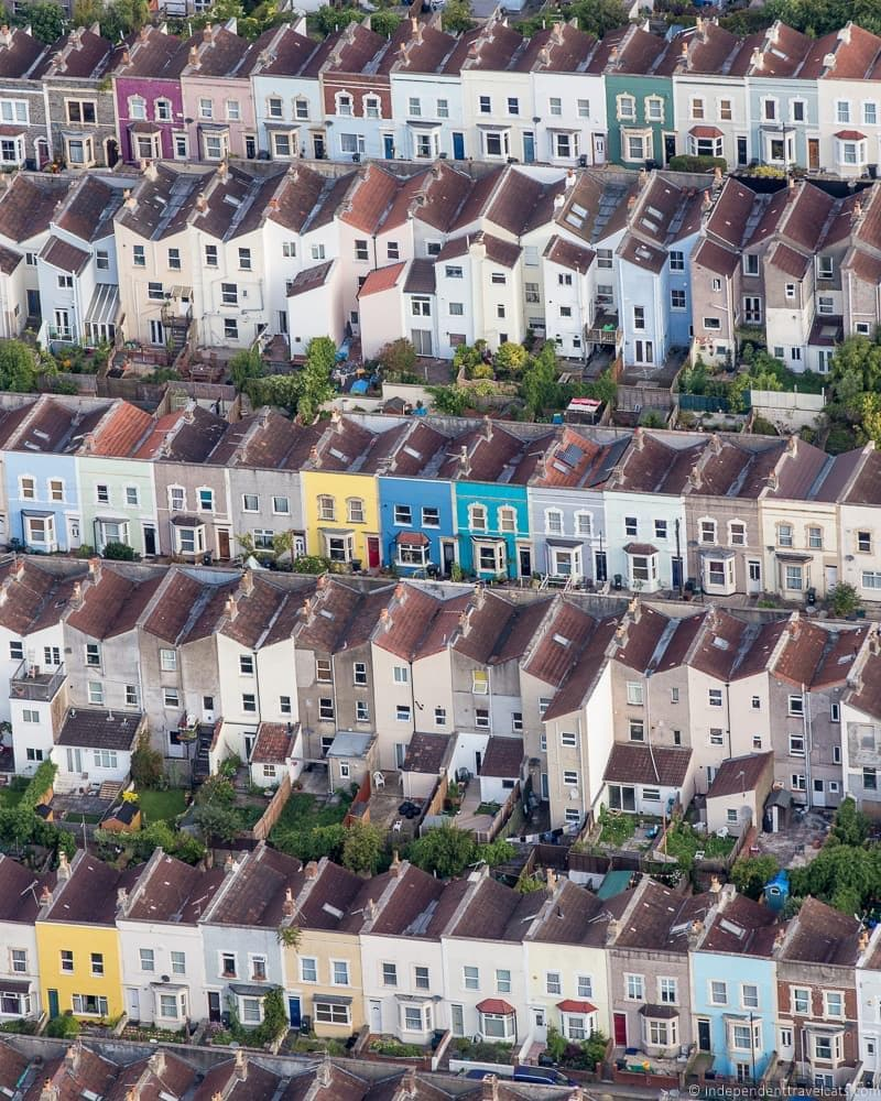 view of Bristol houses from above Bristol Balloon Fiesta England UK