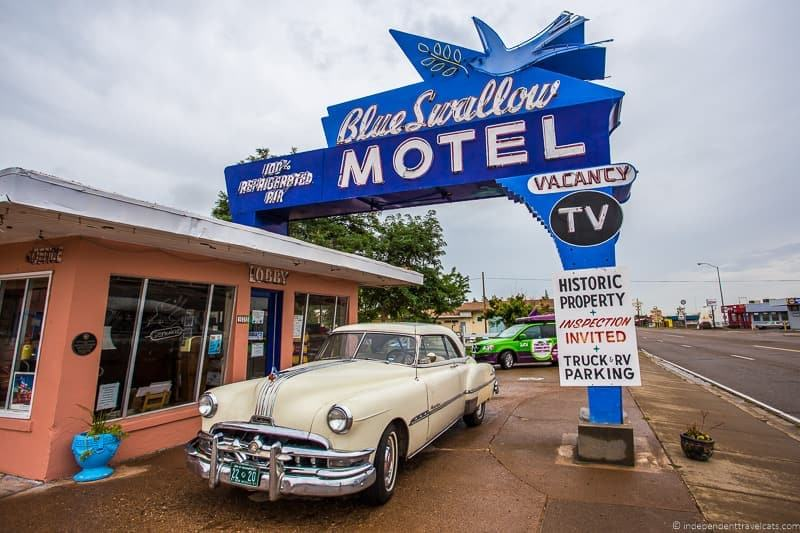 Blue Swallow Motel Tucumcari NM 14 day Route 66 itinerary detailed guide