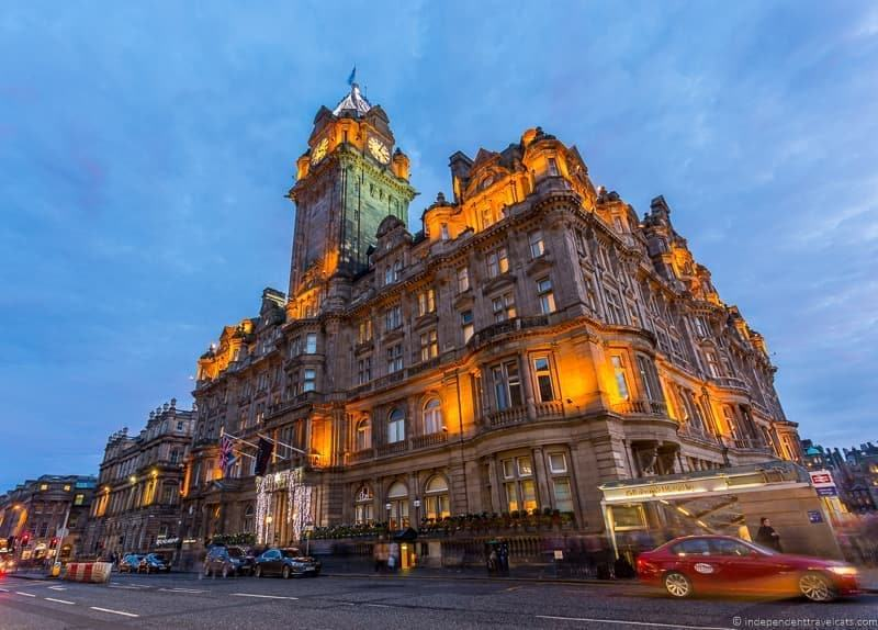 The Balmoral hotel where JK Rowling wrote Harry Potter in Edinburgh Scotland