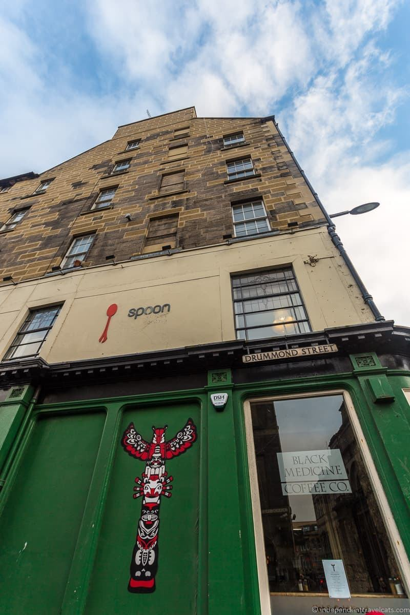 Spoon Nicolson's cafes where JK Rowling wrote Harry Potter in Edinburgh Scotland