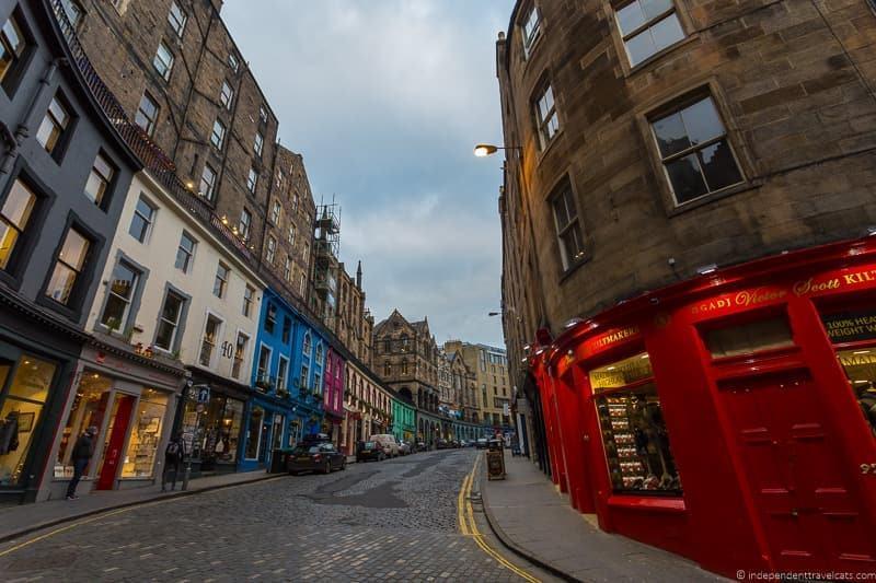 Victoria Street Harry Potter in Edinburgh Scotland