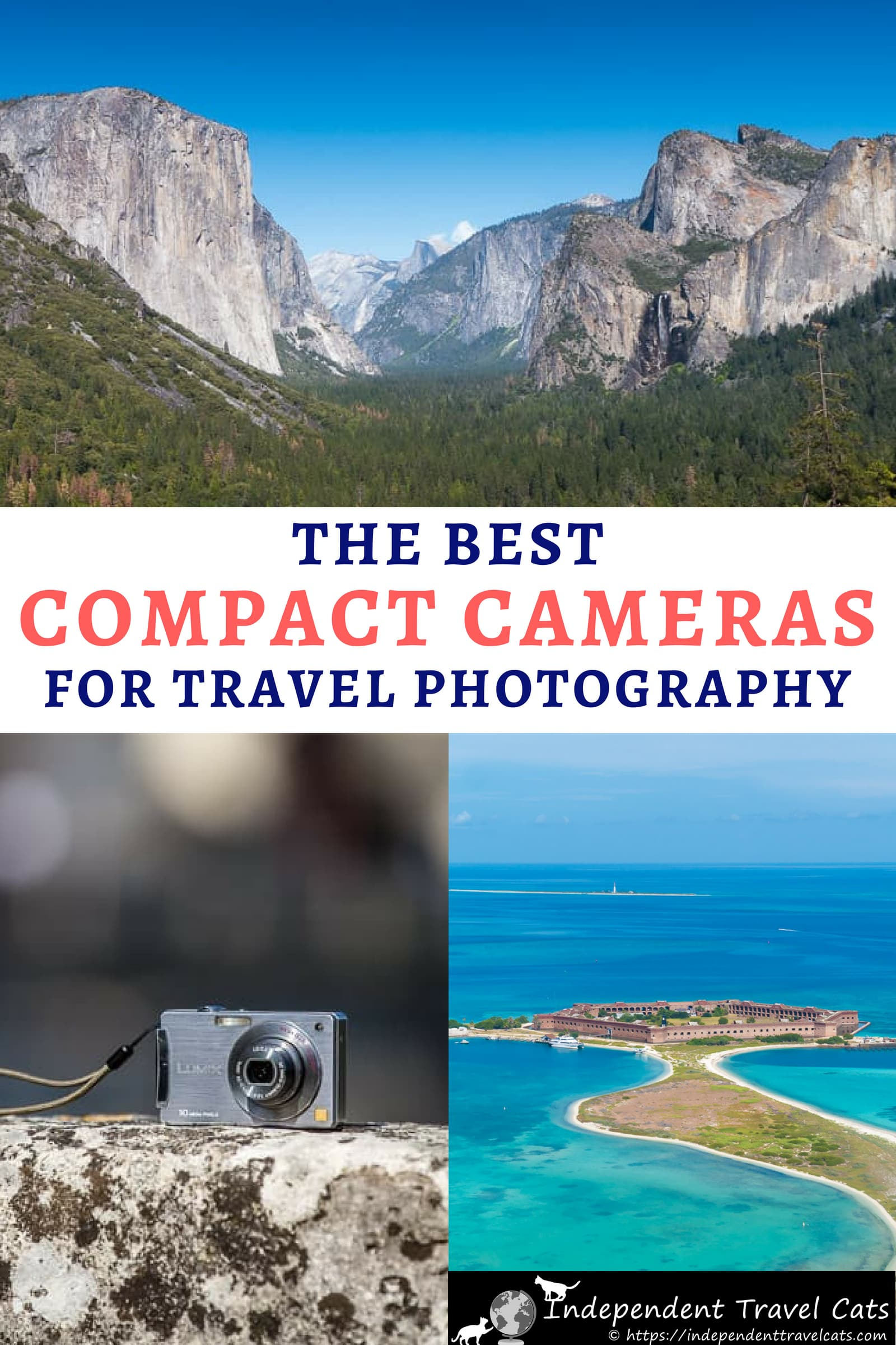 A guide to the best compact cameras for travel at every price point. We'll help you decide how to choose the best compact camera and share a list of the best compact point-and-shoot cameras currently available for any budget. We also give some tips on how to make the most of your point-and-shoot camera when you take it on your next vacation. #travelcamera #travelphotography #travel #compactcameras #pointandshootcamera #photography #budgettravel #cameras
