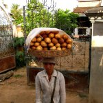 baguettes, bread, lady, woman, cambodia, siem reap