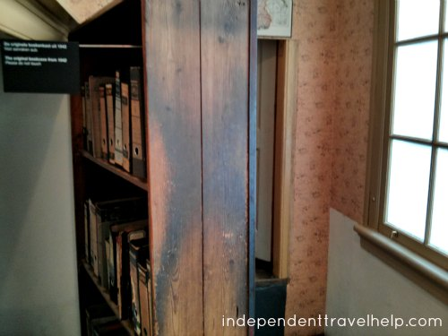 The movable bookcase in the Anne Frank House Museum