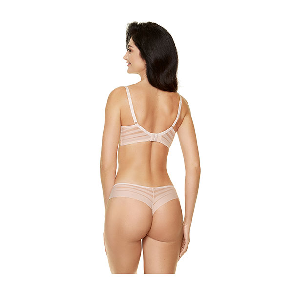 Gorteks Luna Push up og String Beige