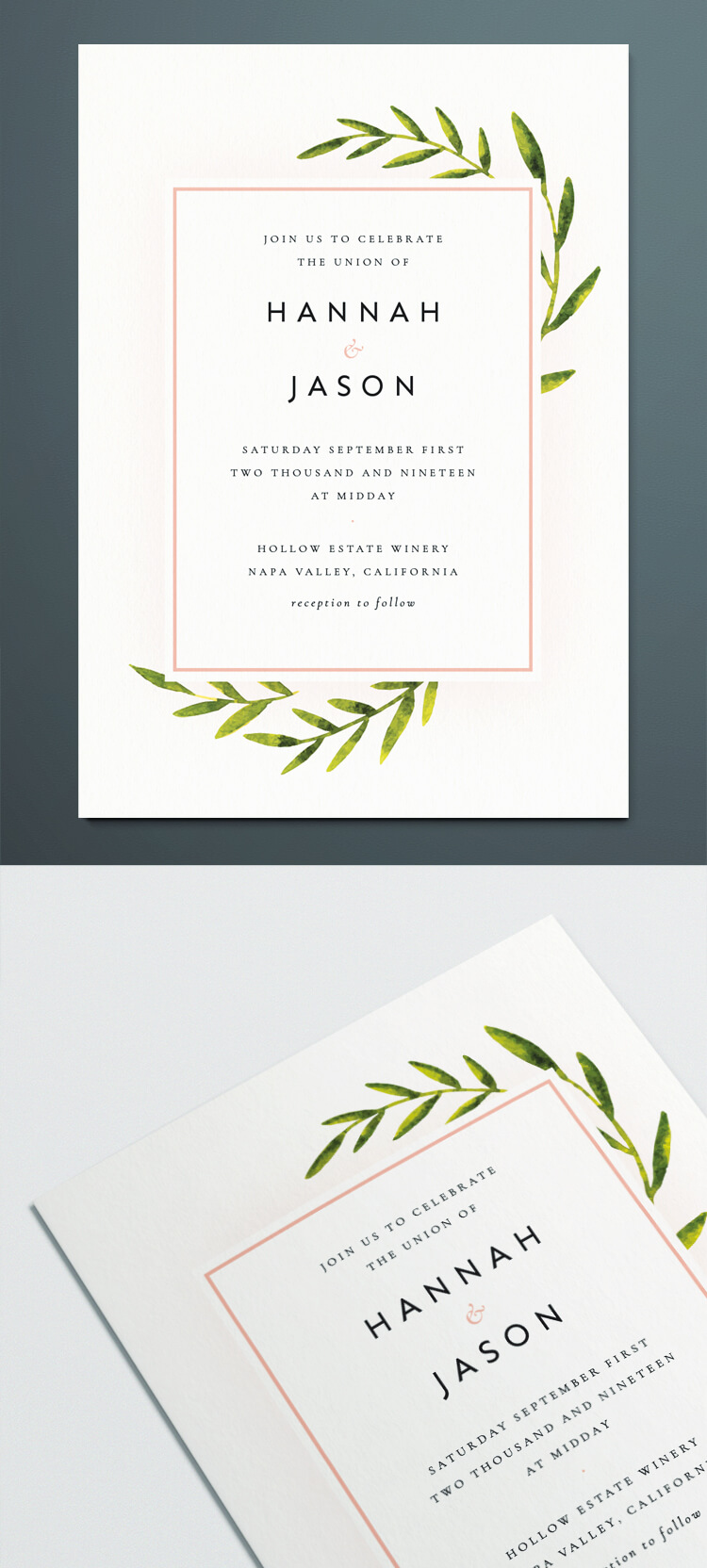 A chalkboard invitation template is usually a public invitation method, rather than an indi. Botanical Wedding Invitation Template For Indesign Free Download