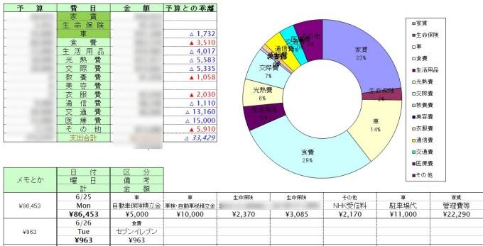 家計簿_Excel