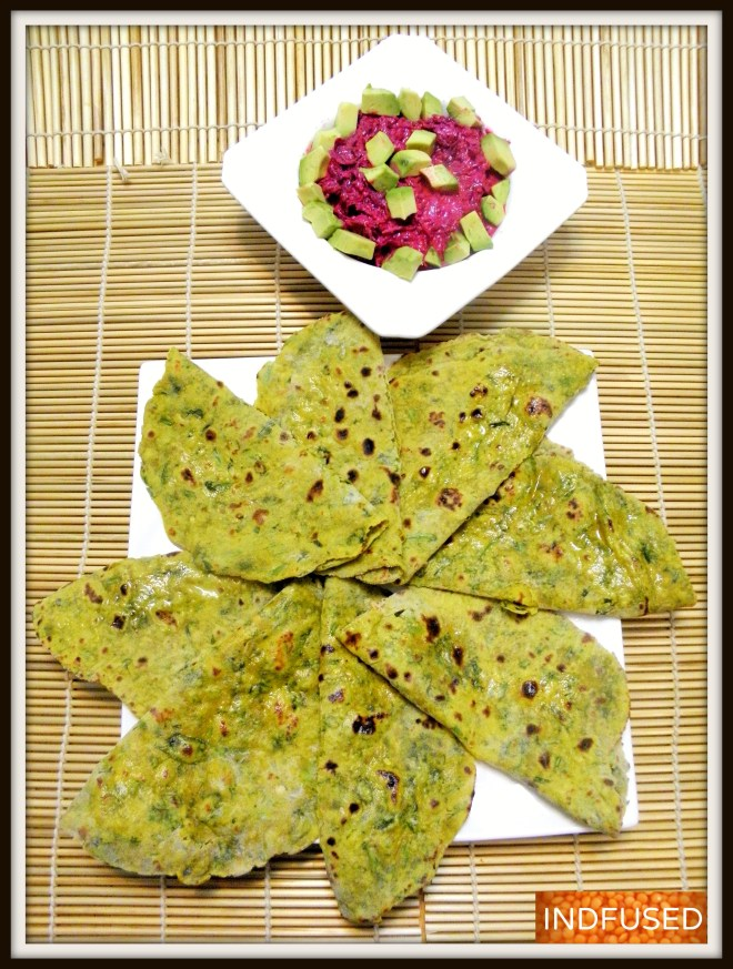 Figure friendly Dal Methi Parathas