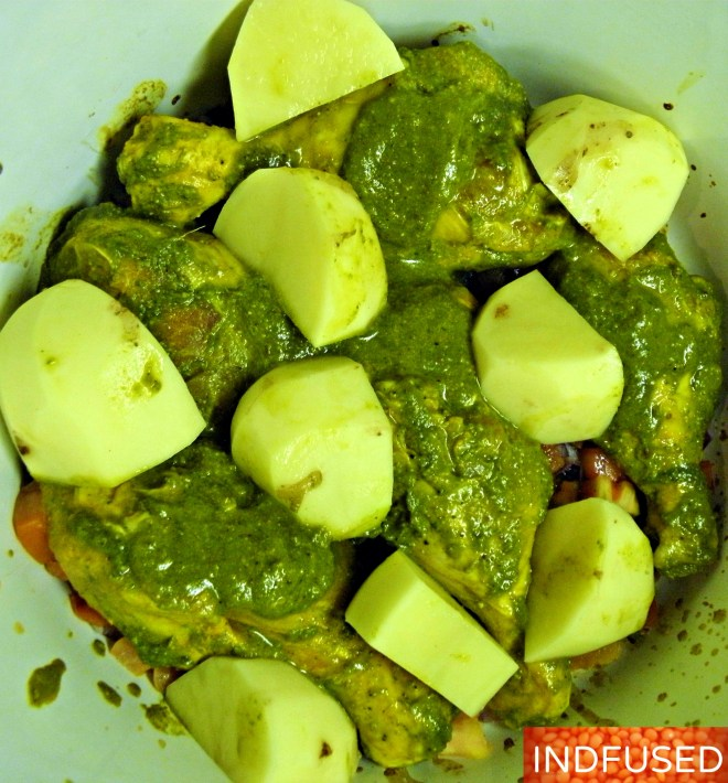 #Authentic #Indian #curry made in a #slow cooker for that unparalleled taste! Recipe with#turmeric,#ginger#aromatics and #spices, #coconut milk and #yukon gold #potatoes is perfect for #fall