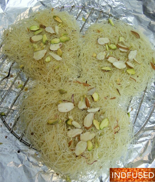 #Diwali #sweets-#easy #recipe for #Sutarfeni with #kataifi #Baked ,#figure friendly version!