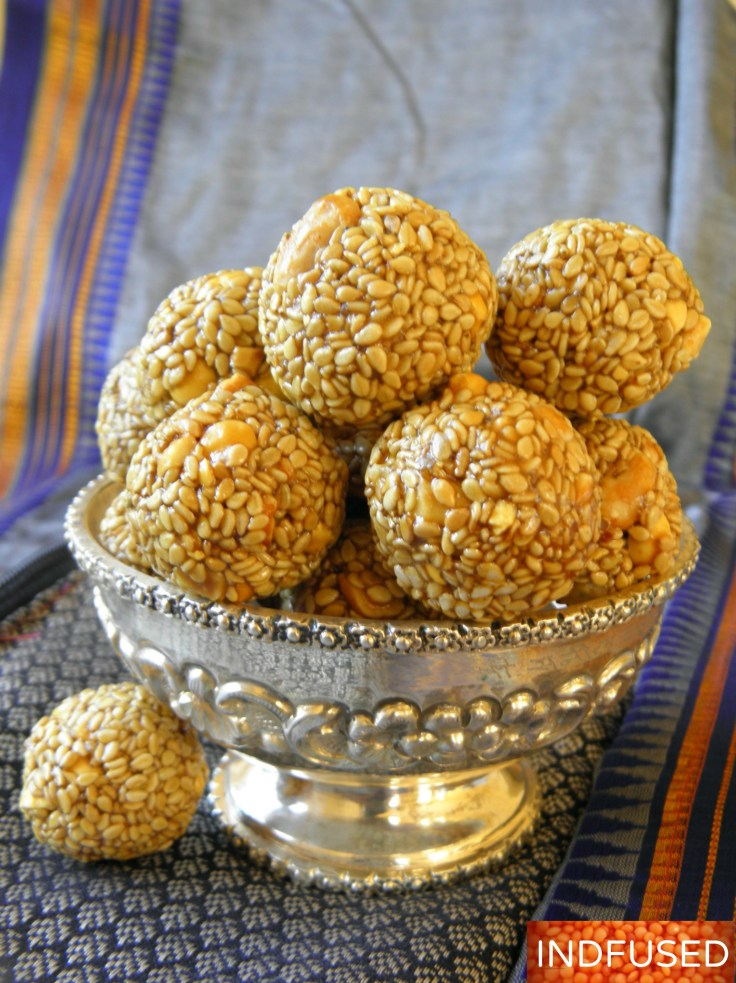 #Sankranthi #special #sesame seed #laddus #microwave #quick and #easy #recipe with #molasses and #jaggery